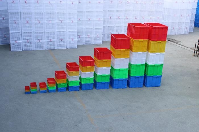 2016年林辉塑业5种颜色塑料框摆放样式